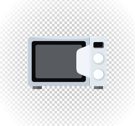 microondas: electrodomésticos microondas. microondas dispositivo electrónico en el estilo plano. icono de horno de microondas, la comida de microondas.