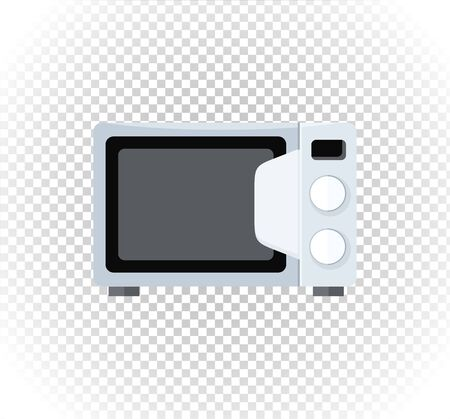 microwave oven: Household appliances microwave. Electronic device microwave in flat style. Microwave oven icon, microwave food. Illustration