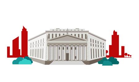 tribunal: Court concept icon flat design.