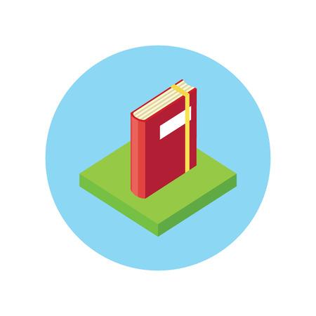 graphic novel: Isometric book icon flat style design.