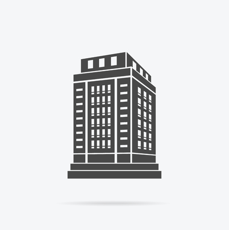 building real estate modern: Skyscraper building icon. Illustration