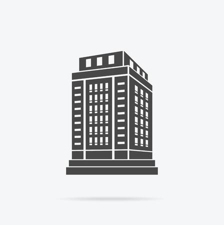Wolkenkrabberbouw icoon.