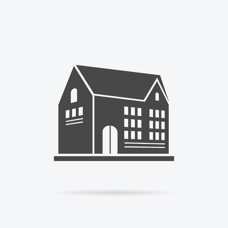 skyscraper: Skyscraper building icon. Illustration
