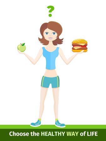 niña comiendo: la dieta del deportista estilo de vida saludable. de vida saludable, la dieta del deportista, estilo de vida saludable, la alimentación y la salud, la dieta actividad deportiva, la dieta nutrición, la alimentación y el cuidado de la salud, vitamina E natural ilustración dieta del deportista Vectores