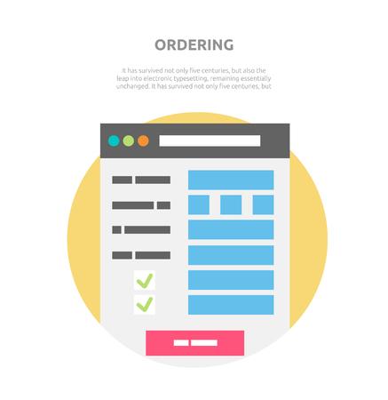 ordering: Ordering website element design.