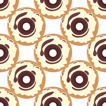 glazed: Donut seamless background texture pattern. Cute donuts with glazing. Seamless pattern. Delicious donut glazed. Donut pattern. Illustration