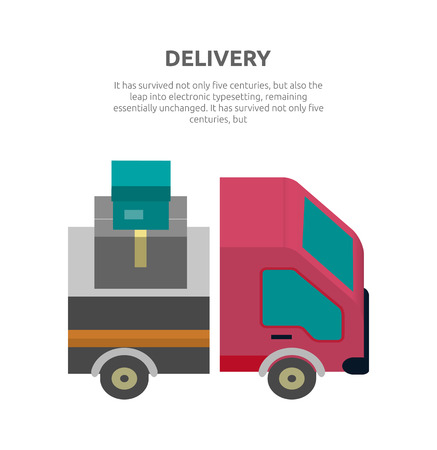 fast driving: Delivery lorry driving fast design. Auto car and delivery van, truck lorry icon, shipping business, cargo vehicle transport, service transportation vector illustration