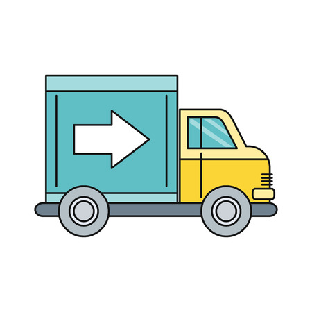 fast driving: Delivery lorry driving fast design. Deliver auto, car and delivery van, truck lorry icon, shipping business, cargo vehicle transport, service transportation vector illustration