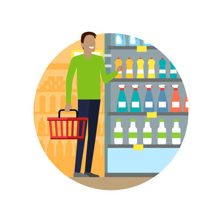 mall interior: People in supermarket interior design. People shopping, supermarket shopping, marketing people, market shop interior, customer in mall, retail store vector illustration