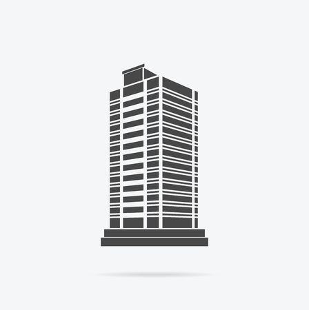 Skyscraper Logo Building Icon Black And Isolated Tower Office City Architecture