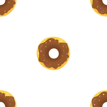 glazing: Donut seamless background texture pattern. Cute donuts with glazing. Seamless pattern. Delicious donut glazed. Donut pattern. Vector donuts pattern. Chocolate donuts. Isolated donuts seamless pattern Illustration