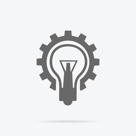 lightbulb: Idea concept background. Glowing light bulb as inspiration concept. Light sign ideas. Vector lightbulb icon. Creative idea in bulb shape. New idea logo