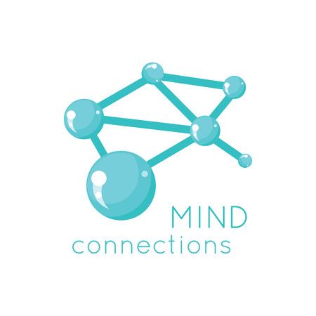 연결 로고 과학의 디자인을 마음. 과학 마음 로고, 기술, 생각, 마음의 연결 및 비즈니스 연결 구조의 마음, 네트워크 시스템 벡터 일러스트 레이 션 일러스트