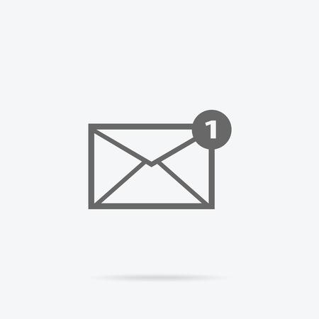 envelope icon: Envelope mail message design linear. Message and email, letter and envelope icon mail, envelope template, internet linear message, send or receive message, correspondence vector illustration