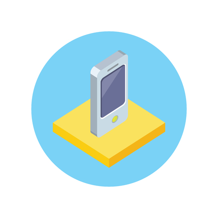 touch screen phone: Smart phone design flat icon isolated. Smart and phone, telephone mobile and smart phone isolated, mobile phone, cell phone, touch screen phone, touchscreen electronic smartphone illustration