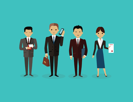 colleagues: Our success team linear design. Teamwork and business team, our team business, office team, business success, work people, company and leadership, businessman and worker, resource office illustration