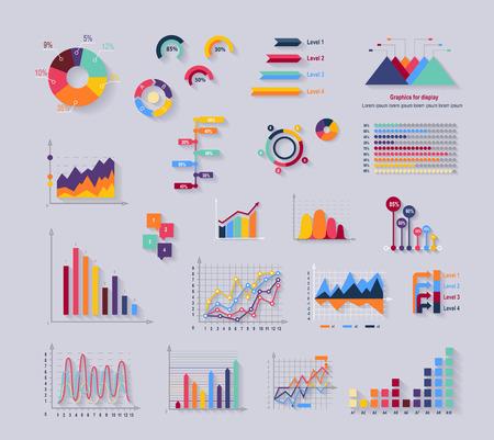 estadistica: Herramientas de datos diagrama finanzas y gráficos. Gráfico y gráfico, finanzas datos de diagrama de negocios, informe de gráfico, la información estadística de los datos, el análisis de infografía ilustración vectorial herramientas