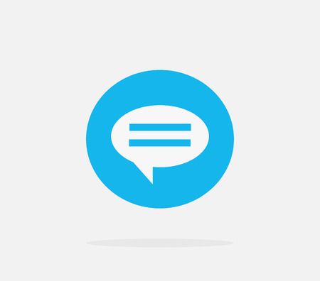 dialog: Contact concept message and speech bubble. Conceptual banner envelope contacts and message. Incoming and outbox alerts. Digital communication dialogue and correspondence. Vector illustration Illustration