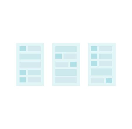 webpage: User interface website element. Interface web, ui and user interface design, user and ui elements, menu site, website frame interface, webpage interface, internet interface graphic simple illustration Illustration