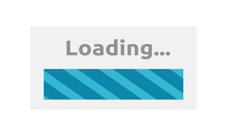 Loading Icon. Loading progress bar design style. Download and loader, progress bar website, upload interface, web indication, load internet vector illustration Ilustração