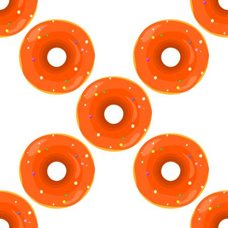 glazing: Donut seamless background texture pattern. Cute donuts with glazing. Seamless pattern. Delicious donut glazed. Donut pattern. Vector donuts pattern. Chocolate donuts. Isolated donuts seamless pattern Stock Photo