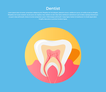 dentist concept: Dental care tooth icon. Dentist concept. Vector illustration