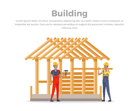 process flow: Building process. Success engineer. Building process flow, construction process, engineering technology, construction building, business building, work process vector illustration