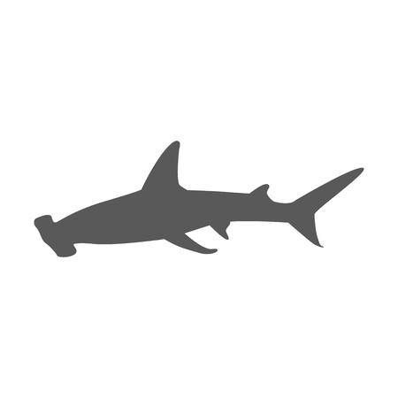 hammerhead shark: Hammerhead shark icon isolated on white background. Vector illustration