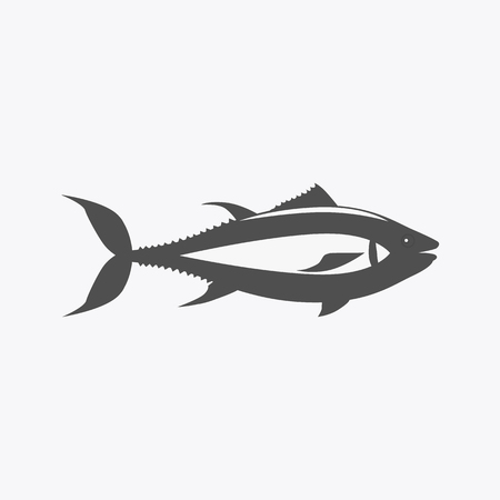 aquatic life: Fish icon design flat isolated. Fish sea animal or food, wildlife aquatic and nature ocean river fish, seafood life swimming with tail and fin, fauna marine style exotic, vector illustration Illustration