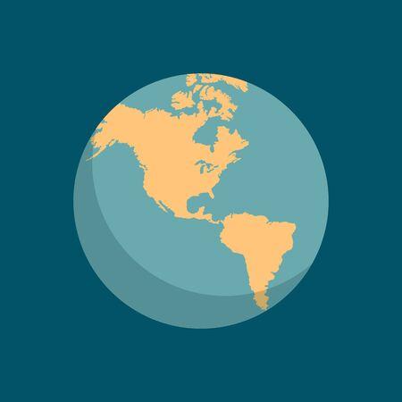 Icona della scuola di mondo mondo globo. Simbolo di educazione Geografia Mappa della Terra. Illustrazione vettoriale