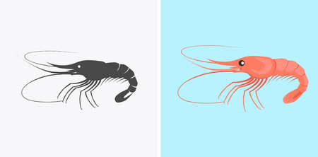 deepsea: Oysters patterns in colour and monochrome variants. Seafood concept icons in flat style design. Vector illustration fresh deep-sea oyster. Beautiful shell pearl mussels.