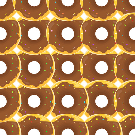 glazed: Donut seamless background texture pattern. Cute donuts with glazing. Seamless pattern. Delicious donut glazed. Donut pattern. Vector donuts pattern. Chocolate donuts. Isolated donuts seamless pattern Stock Photo