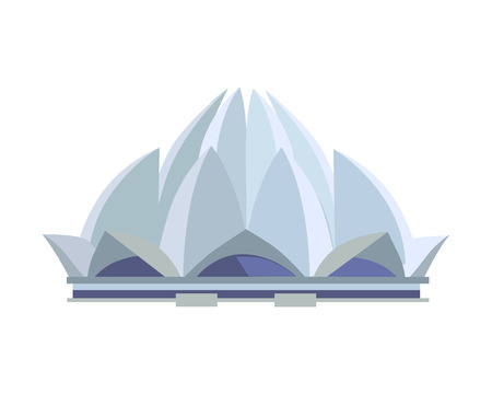 Traveling India famous historical attractions vector.