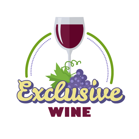 Exclusive wine. For labels, tags, tallies, posters, banners of check elite vintage wines.