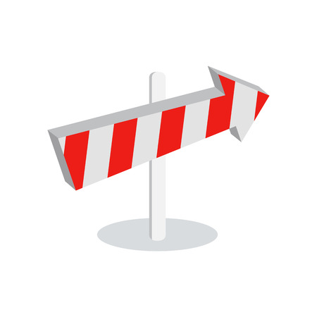 moving down: Direction arrow icon isolated on white background. New level at something. Going in the following stage at achieving something new. Choosing the right way. Moving forward. Vector illustration