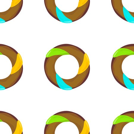sugar cookies: Donut seamless background texture pattern. Cute donuts with glazing. Seamless pattern. Delicious donut glazed. Donut pattern. Vector donuts pattern. Chocolate donuts. Isolated donuts seamless pattern Illustration