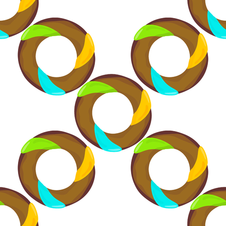 Donut seamless background texture pattern. Cute donuts with glazing. Seamless pattern. Delicious donut glazed. Donut pattern. Vector donuts pattern. Chocolate donuts. Isolated donuts seamless pattern Illustration
