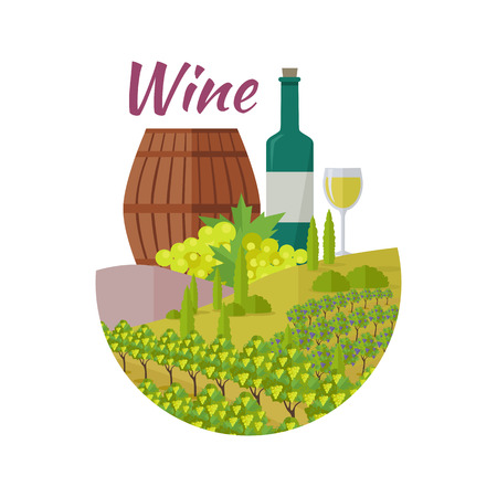 vinification: Wine club quality collection. For labels, tags, posters, banners of check elite vintage wines. Logo icon symbol. Winemaking concept. Part of series of viniculture production and preparation. Vector