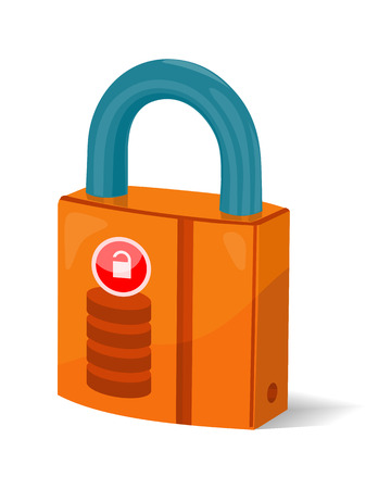 protected database: Data storage sign symbol icon. Lock isolated on white. Security concept. Database with padlock. IT security protected computer server. Render of safe storage aspect. Saving the information. Vector