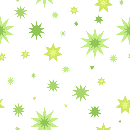 fortune concept: Seamless pattern with star splashes isolated on white background. Cartoon style. Wallpaper design, covers, posters, wrapping papers, backgrounds. Success and fortune concept. Modern flat design. Vector