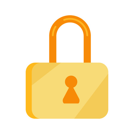 lock symbol: Data storage sign symbol icon. Lock isolated on white. Security concept. Database with padlock. IT security protected computer server. Render of safe storage aspect. Saving the information. Vector