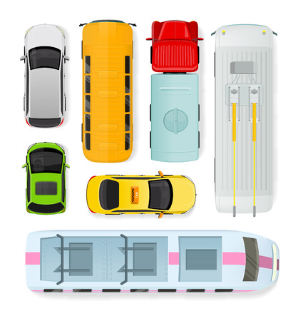 trolleybus: Set of transport units. Public and private types of transportation. Car vehicle, truck van, taxi auto cargo, bus and automobile, train, trolleybus illustration. Car icon. Transport icon set. Vector