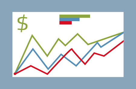 fluctuations: Graphic symbols for infographic. Statistic element vector. Graphic peaks, curve fluctuations illustrating. For business, social, political concepts. Isolated on white background. Illustration