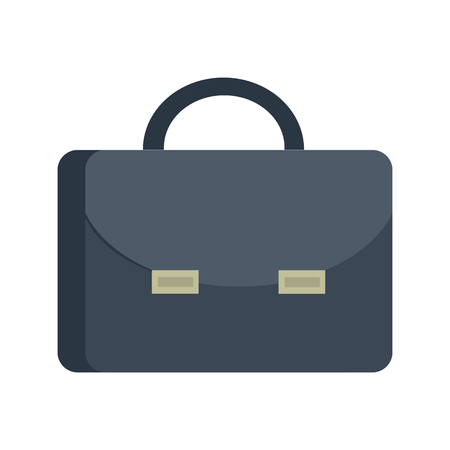 attache case: Briefcase vector illustration in flat style. Attache case picture for bisiness conceptual banners, web, app, icons, infographics,  design. Isolated on white background.