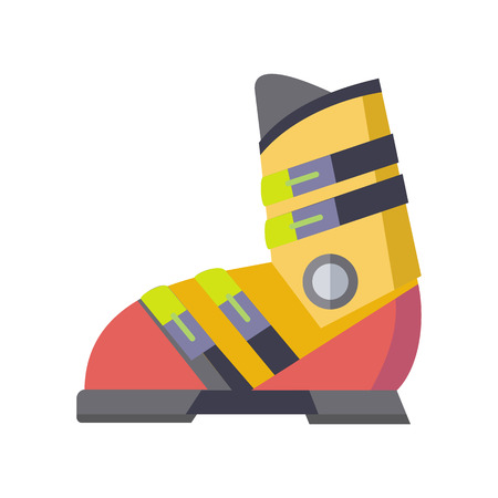Figure skates icon isolated on white. The skates icon. Figure skates symbol. The skates consist of a boot and a blade attached to sole of boot. Figure skating sport equipment. Vector illustration Illustration