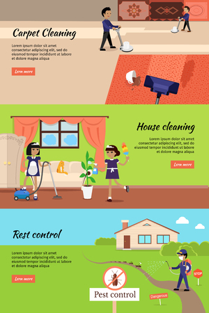house cleaning pest control cleaning carpet banners housework and cleaner service domestic