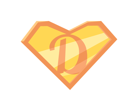 super dad: Father superhero symbol. Super dad icon. Super dad shield in flat. Pink orange element. Simple drawing. Isolated vector illustration on white background. Illustration