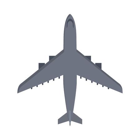 avión militar aislado en blanco. Aviones de avión de dibujos animados del vector. avión militar volando en la velocidad. unidad de transporte volar. Guerra medios de transporte en el aire. ejército avión.