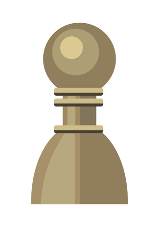 plastic soldier: Pawn vector in flat style. Wooden or plastic chess figure. Chessman. Board game. Intellectual sport. Illustration for business strategy, career concepts. Isolated on white background Illustration