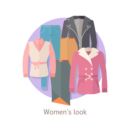 Women s look concept Illustration